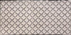 WC90 - Faux Tin PVC Kitchen Backsplash Roll Antique Silver (Glue Up) - DIY