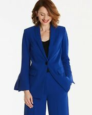 Anthology NWT UK size 16 blue split sleeve lined smart blazer jacket