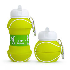 Silicone Water Bottle - Tennis Water Bottle - Foldable Outdoor/Indoor - 500ml
