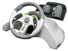 Manivela de carreras XBOX 360 MAD CATZ MICROCON Racing rueda con pedales Nueva En Caja