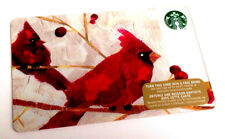 2015 STARBUCKS RED BIRDS GIFT CARD NO VALUE MINT BILINGUAL RECHARGEABLE