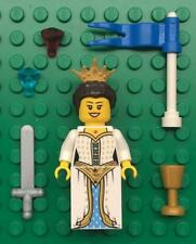 Lego White Queen Princess Minifig Lot: castle figure: woman girl lady maiden