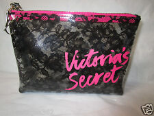 VICTORIA'S SECRET clear black cosmetic / make up bag  purse new nwt