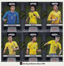 2018 Panini FIFA World Cup Soccer PRIZM Trading Card Base Team Set Brazil(13)