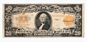 *** USA * SELTEN: * 20 DOLLARS IN GOLD COIN SERIES OF 1922 * gebraucht ***