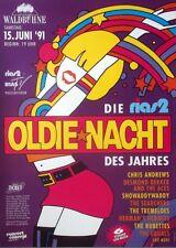 RIAS OLDIE NACHT - 1991 - Konzertplakat - Searchers - Tremeloes - Rubettes - Ber