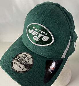 New York JETS Hat Cap 39THIRTY Patch Spellout NFL Stretch Fit L/XL NEW Logo