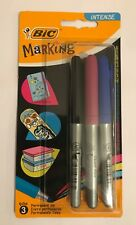 BIC Marking Intense Colour Permanent Markers Fine 3 Pack -SAME DAY DISPATCH