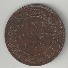 CANADA,  1909,  LARGE CENT,  BRONZE, KM#8, ALMOST UNCIRCULATED (Details)
