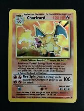 Pokémon Card Charizard Base Set Unlimited Rare Holographic 4/102