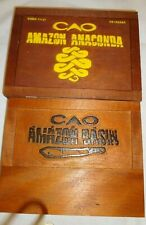 CAO AMAZON Wooden Cigar Boxes Empty   lot of 2  Lot #256