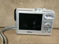 Vintage Nikon COOLPIX P2 5.1 MP Digital Camera 3.5X Zoom Silver