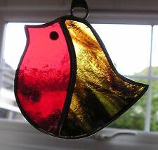VETRO colorato Robin, Suncatcher, Hand Made in England