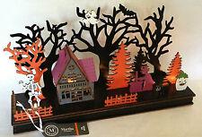 NEW Martha Stewart LED Lighted Halloween Haunted Village Skeleton Die-Cut Wooden