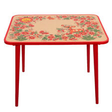 Wooden Khokhloma TABLE for Kids Playroom Bedroom. Hohloma Russian Style Patterns
