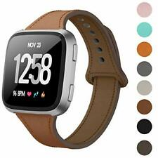 Leather Bands For Fitbit Versa 2 / Versa /Versa Lite Slim Soft Replacement Strap