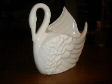 Pottery White Swan Vase Planter