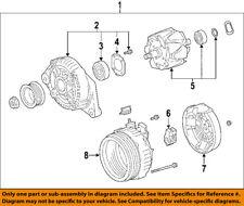 Lexus TOYOTA OEM 06-13 IS250-Alternator 270603106284