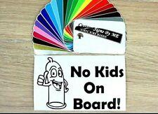 No Kids on Board Funny Car Sticker Vinyl Decal Adhesive Window Bumper Tailgate