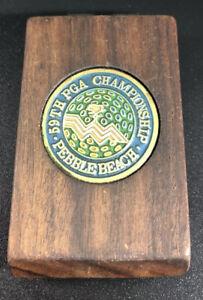 Vintage 59th PGA Championship Pebble Beach Money Clip 1977 Rare Souvenir