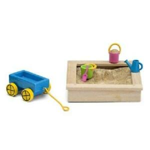 Lundby Smaland 1:18 Dolls House Garden Accessories Sandpit Sandbox Play Set