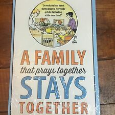 """Family Circus A Family That Prays Together Stays Together 12"""" X 8.5"""" Metal Sign"""