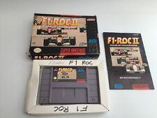 F1 ROC 2 II-CORSA DEI CAMPIONI-Nintendo SNES-NTSC-Boxed & COMPLETA