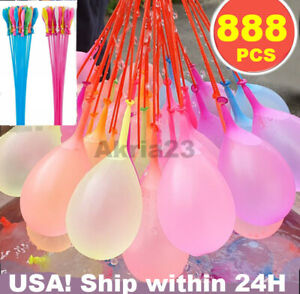 US SELLER 8Pack 888 pcs Bunch O waterballoon Instant water Balloons,Self-Sealing