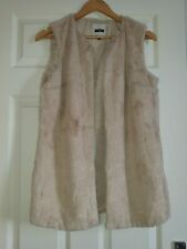 NEXT WOMENS FUR GILET SIZE 10