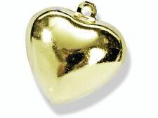 Glöckchen Glocke Katzenglöckchen Herz gold 15 MM 5 Stück