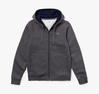 Lacoste - Men's SPORT Full-Zip Fleece Hoodie, Pitch/Navy Blue, XXL