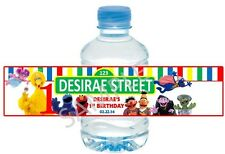 Sesame Street Water Bottle Wrappers - Baby Shower- Birthday Party Favors -S/12
