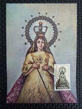 Spain MK 1965 Madonna maximum carta carte MAXIMUM CARD MC cm c1651