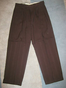 Mens Pants Unique Brown Dress Cuffed 32 34 36 38 40  X 32 Style #3 NEW