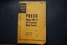 PRECO TBC-12 Motor Grader Blade Control Service Manual 1953 Caterpillar repair
