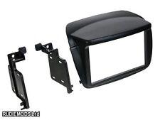Fiat Doblo 2010 on Black Double Din Car Stereo Fitting Kit Facia CT23FT15