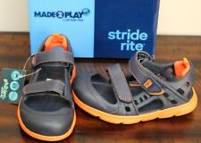 New Stride Rite Navy Phibian Sandals sz 9 Boys Water Shoes Boat Camping Hiking
