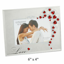 Photo Frame With Red Hearts Romantic Love Gift Ideas For Her Him