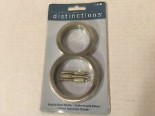 """Hillman Distinctions Floating House Number 8 Brushed Nickel 5"""" New"""