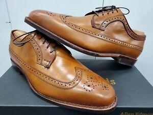 Allen Edmonds Grandview Longwing Derby Leather Wingtip - Walnut Calf - Size 12