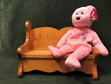 Vintage Handmade Wood Doll Bench Settee Couch