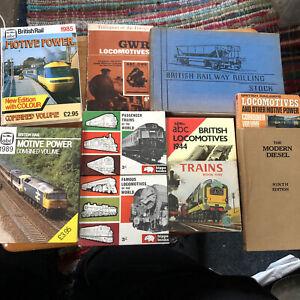 8 Model Railway books Joblot steam train Railwayana rail travel diesel transport