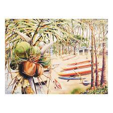 Halau Wa'a ma ke Ala Wai - Peggy Chun Print – Large Size