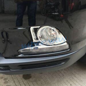 For Toyota Kluger 2014-2016 Chrome Car Front Fog Light Lamp Frame Cover Trims
