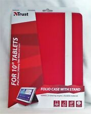 "TRUST RED FOLIO CASE FOR GOOGLE NEXUS 10"" TABLET. BRAND NEW"