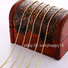 """Bulk Wholesale Lots 5pc 1mm Gold Filled Fashion Womens Box Chains Necklace 18"""""""