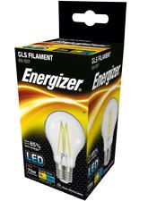 2 x Energizer 11w (=75w) LED Clear GLS Filament Bulb, Extra Warm White 2700k ES