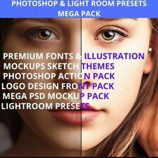 500GB Photoshop & Lightroom Presets Mockup Fonts Action  2020 Mega collection