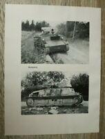 Blatt Bilder Beutepanzer 1940 Panzer Technik Ort Straße zerstört  2. WK WWII
