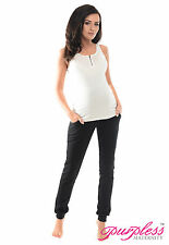Purpless Maternity Pregnancy Over Bump Joggers Trousers 1307 14 Black